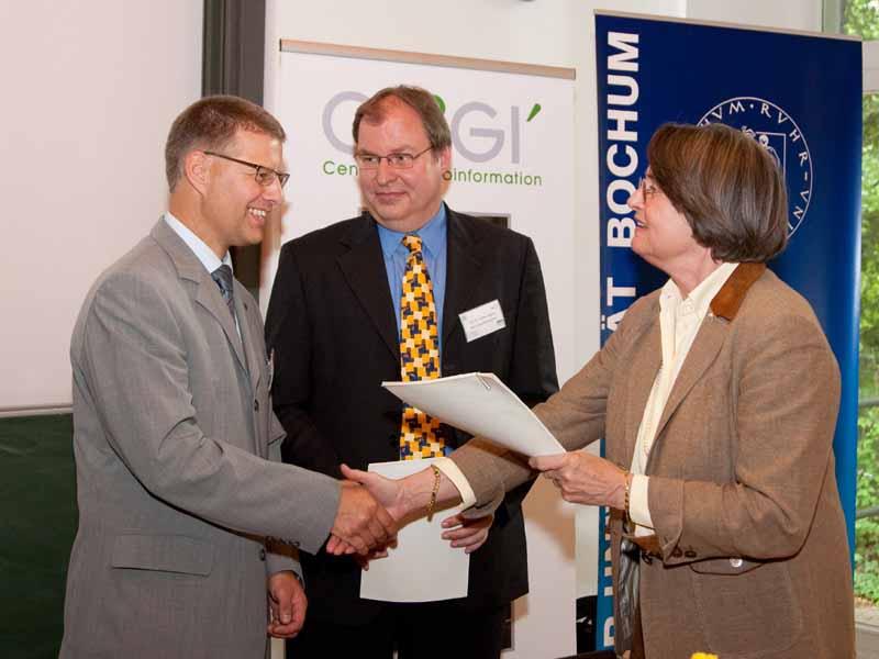 Fördermittel-Projekt für Geoinformation: Ministerin Christa Thoben zu Gast bei CFGI im B-1st in Dortmund