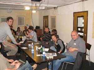 Viele der Teilnehmer hatten Netbooks bei, mit denen sie live vom Treffen berichten - und twittern konnten