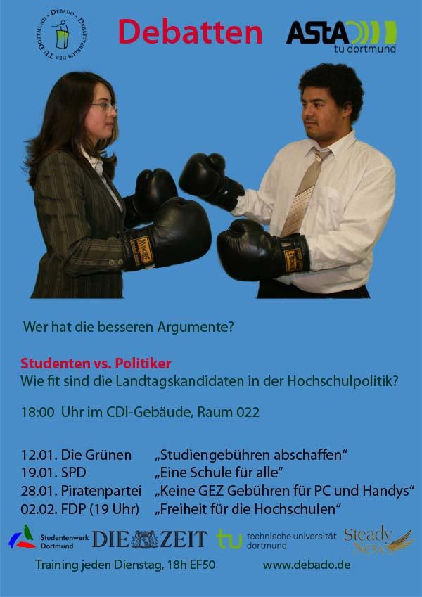 Hier das vollständige Programm: Spannende Debatten-Serie an der Universität Landtagskandidaten stellen sich Debattierklub