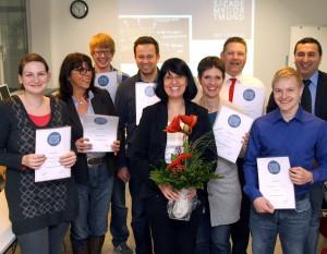 Die ersten Absolventen der Social Media Manager Weiterbildung erhielten am 14.09.2011 ihr Zertifikat