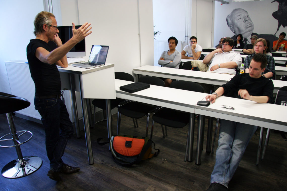 Fotograf Wolfgang Bellwinkel zu Gast bei SAE Bochum – der Hochschule für Film und Medien