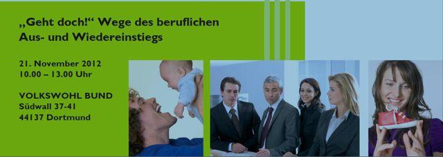 Familienbewusste Personalpolitik: Veranstaltung am 21.11.2012 in Dortmund