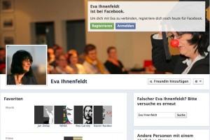 Eva Ihnenfeldt bei Facebook - so sieht es für Nichtmitglieder aus...
