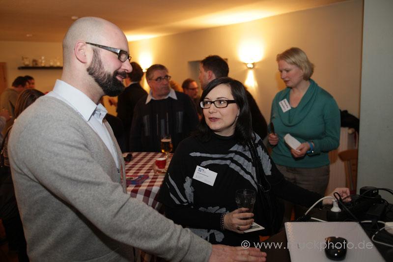 Kai Bünseler von der Wirtschaftsförderung Dortmund war den ganzen Abend ein begehrter Gesprächspartner - wie bei jeder BARsession...