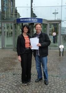 Gründer: E. Ihnenfeldt und H. Rohde am Tag der Gewerbeanmeldung der Business Academy Ruhr GmbH
