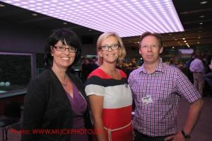 Eva Ihnenfeldt, Syvia Tiews (Wirtschaftsförderung Dortmund) und Holger Rohde als glückliche Veranstalter - ein rundum gelungener Abend
