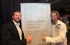 Sebastian Galla und Sven Gasser vom Social Media Team