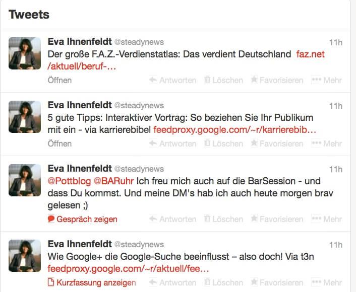 Eva Ihnenfeldt: So nutze ich Twitter-, Xing-, Facebook-, Mail-, SMS-, WhatsApp- Nachrichten…