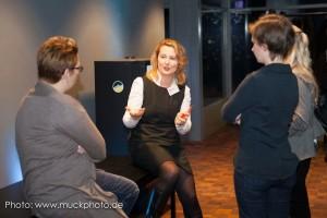 Dr. Marie Huchthausen in ihrer Session zu Berufsbildern rund um Social Media