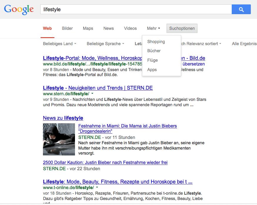 23. Januar 2014: Die Google Blogsuche und Diskussionen Suche ist weg
