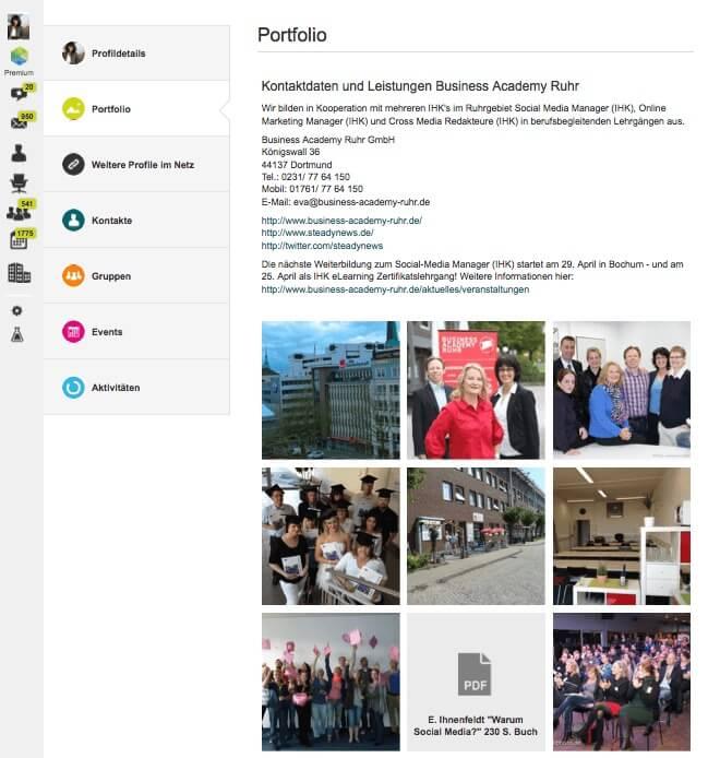 Xing Portfolio erstellen: Video Anleitung von Xing