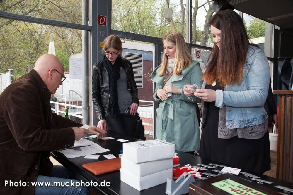 Danke an alle Gäste - und danke an Ralf Fritz Barthel und Jutta Wenski, die den Empfang übernommen haben!
