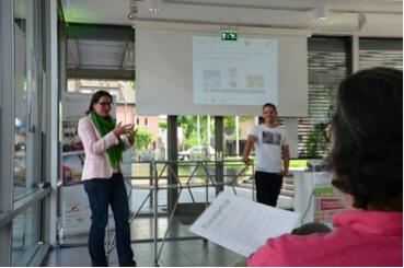 Vera Pleßer-Arns und Kevin Stobbe  moderierten die Talkrunde