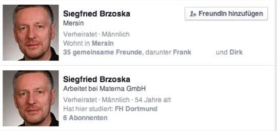 Der doppelte Sigi bei Facebook