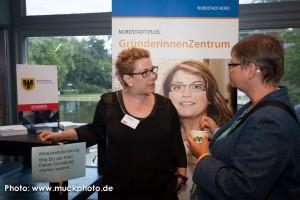 Ohne die großzügige Unterstützung der Wirtschaftsförderung Dortmund wären die BarSessions nicht denkbar - hier Maike Kranaster vom Gründerinnenzentrum