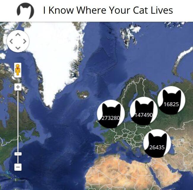 """Katzen-Weltkarte aus dem Social Web: """"Ich weiß wo Deine Katze wohnt"""""""