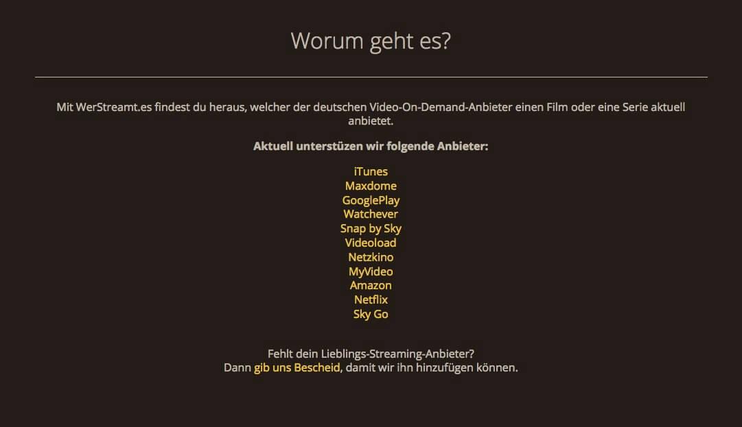 """""""Wer streamt es?"""" iTunes, Amazon, Maxdome, Netflix im Überblick"""