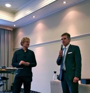 MC-Dortmund Präsident Dr. Michael Peschke begrüßt den Referenten Klaus Passerschroer (Pralinenclub)