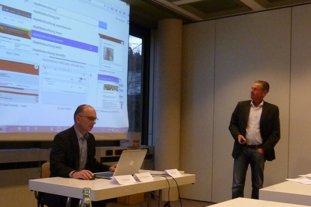 Dr. Paul Compes (agsw) und Prof. Dr. Peter Vieregge präsentierten die Studienergebnisse