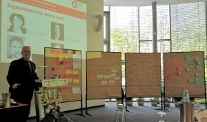 Herbert Haberl, Leiter der IBW Akademie mit Sitz in Berlin, moderierte am 24.4. das 1. Zukunftsforum IBW und stellte die Ergebnisse der 4 Worldcafes vor