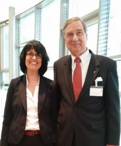 IBWF Präsident Karl-Heinz Thor und Eva Ihnenfeldt