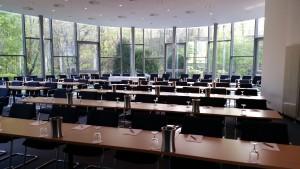 Veranstaltungsort des 1. IBWF Zukunftsforums war das Haus der Unternehmer in Duisburg, hier ein Blick in den Tagungssaal