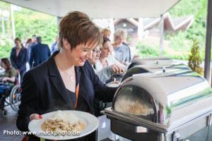 Danke an die Muto-Gastronomie, die immer so ein köstliches Buffet zaubern – auf Wunsch auch für Veganer!