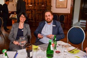 Eva Ihnenfeldt (BVMW-Beauftragte für Dortmund) und Scoop-Sponsoring Gründer Dennis Arntjen