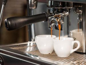 Siebtraeger einer Espressomaschine