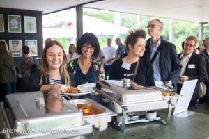Wie imemr auf der BarSession wurde zunächst ausgiebig gegessen - die Köstlichkeiten kamen von der Muto-Gastronomie im Westfalenpark