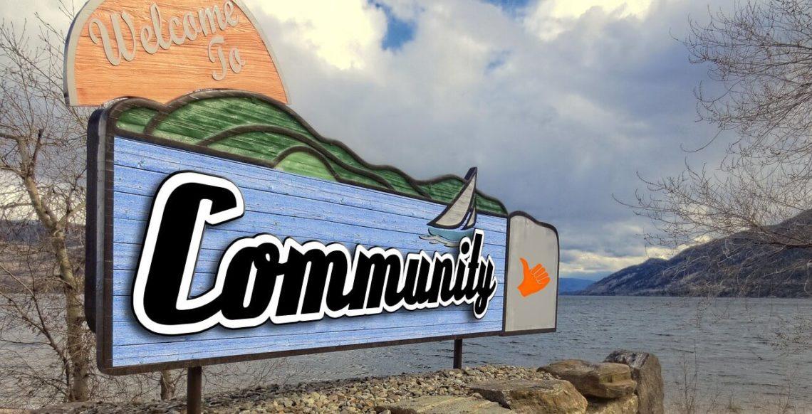 Geschlossene social Communities