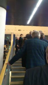 Zu Beginn des Empfangs durfte auch ich Bürgermeisterin Birgit Jörder und Oberbürgermeister Ullrich Sierau persönlich begrüßen