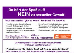 Protestmarsch am 5.2.16 in Dortmund gegen sexuelle Gewalt