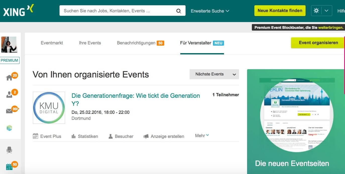 Anleitung zu Xing-Events - Anlegen, Einladen, Verwalten - Steadynews ...