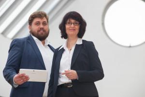 """Dennis Arntjen und Eva Ihnenfeldt leiten das Unternehmer-Netzwerk """"KMU-digital.net"""""""