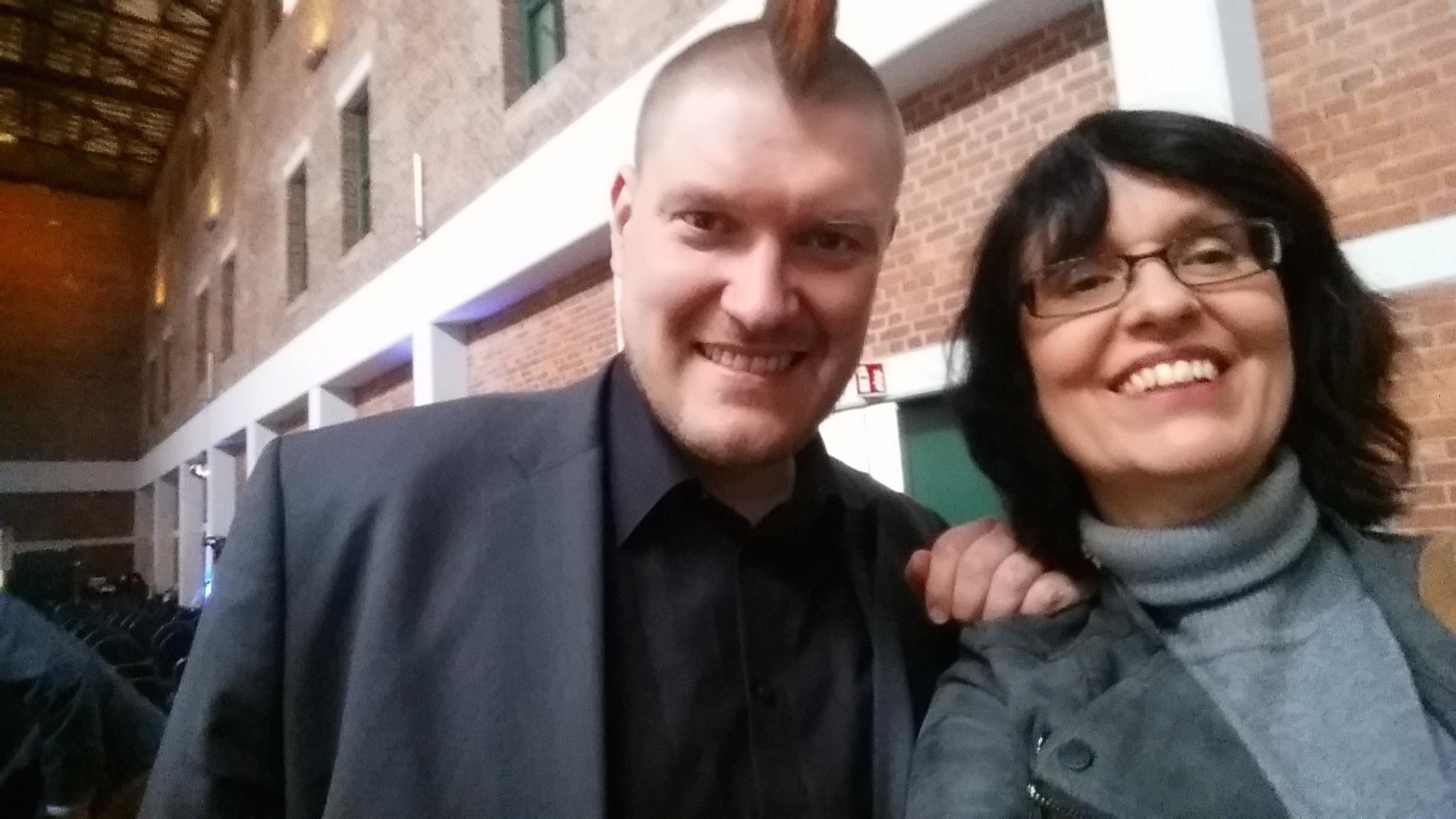 Das ließ ich mir natürlich nicht nehmen! Ein Selfie mit vielleicht dem prominentesten digitalen Vordenker Deutschlands, Sascha Lobo