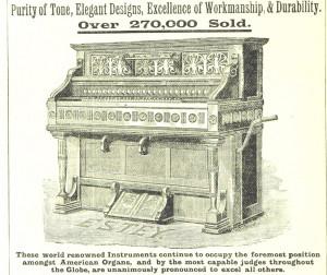 Ein Harmonium aus einem alten Katalog