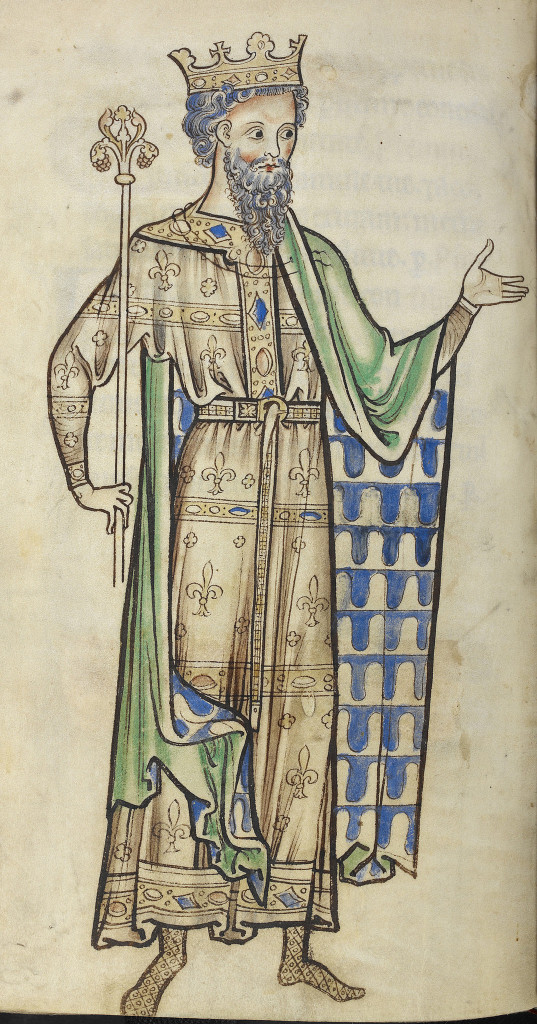 Ein König mit Szepter aus dem Westminster Psalter