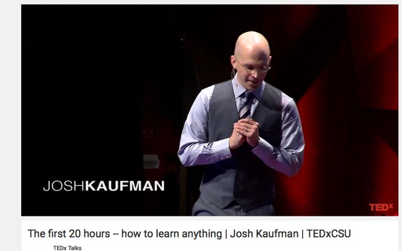 Wie wir in 20 Stunden alles, was wir wollen, lernen können. Josh Kaufmann bei TED-Talk