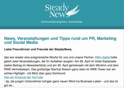 Der E-Mail-Newsletter im Zeitalter von Social Media – am Beispiel SteadyNews