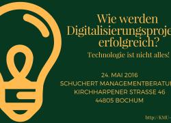 """""""Die Berater"""" am 24.05.2016 – Wie werden Digitalisierungsprojekte erfolgreich?"""