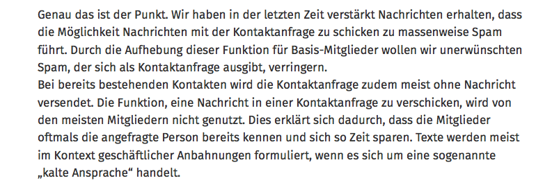 Xing-Antwort