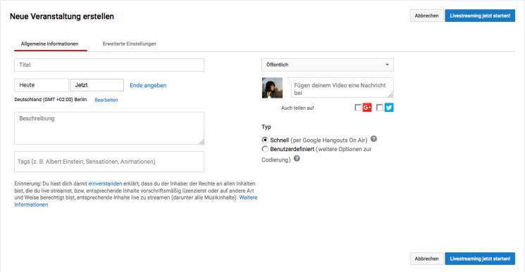 Google Hangouts ab dem 12. September 2016 nur noch über YouTube Live – macht aber nichts