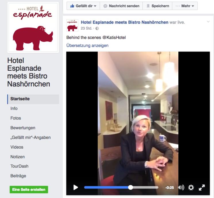Social Media Strategie vom Hotel Esplanade: #katishotel