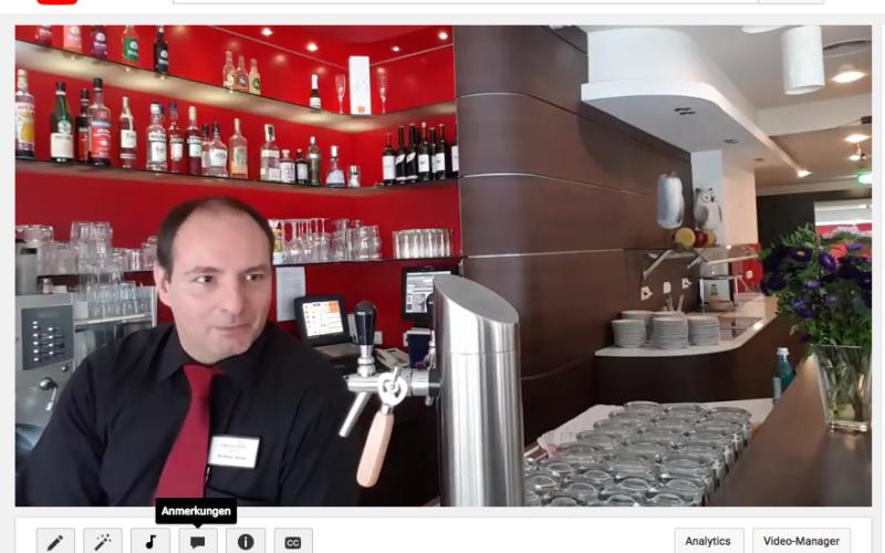 Das Hotel Esplanade in Dortmund: YouTube Interview mit Matthias, dem Barkeeper