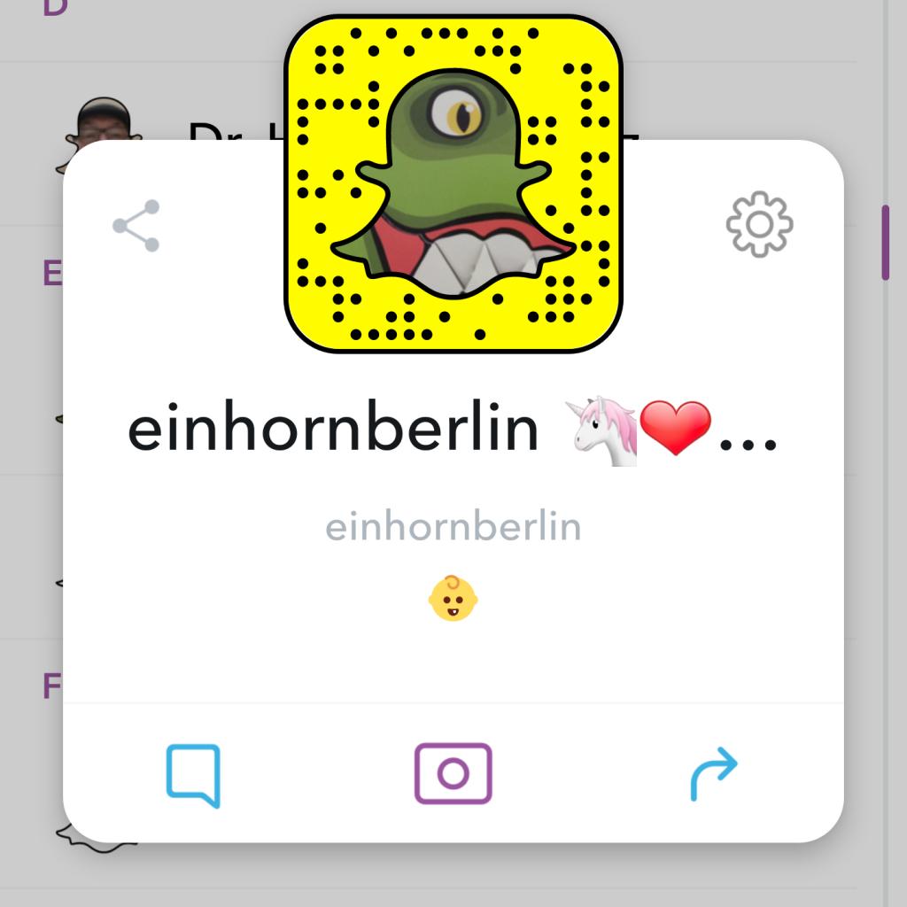 Einhornberlin bei Snapchat - mit Stories von Philip Siefer