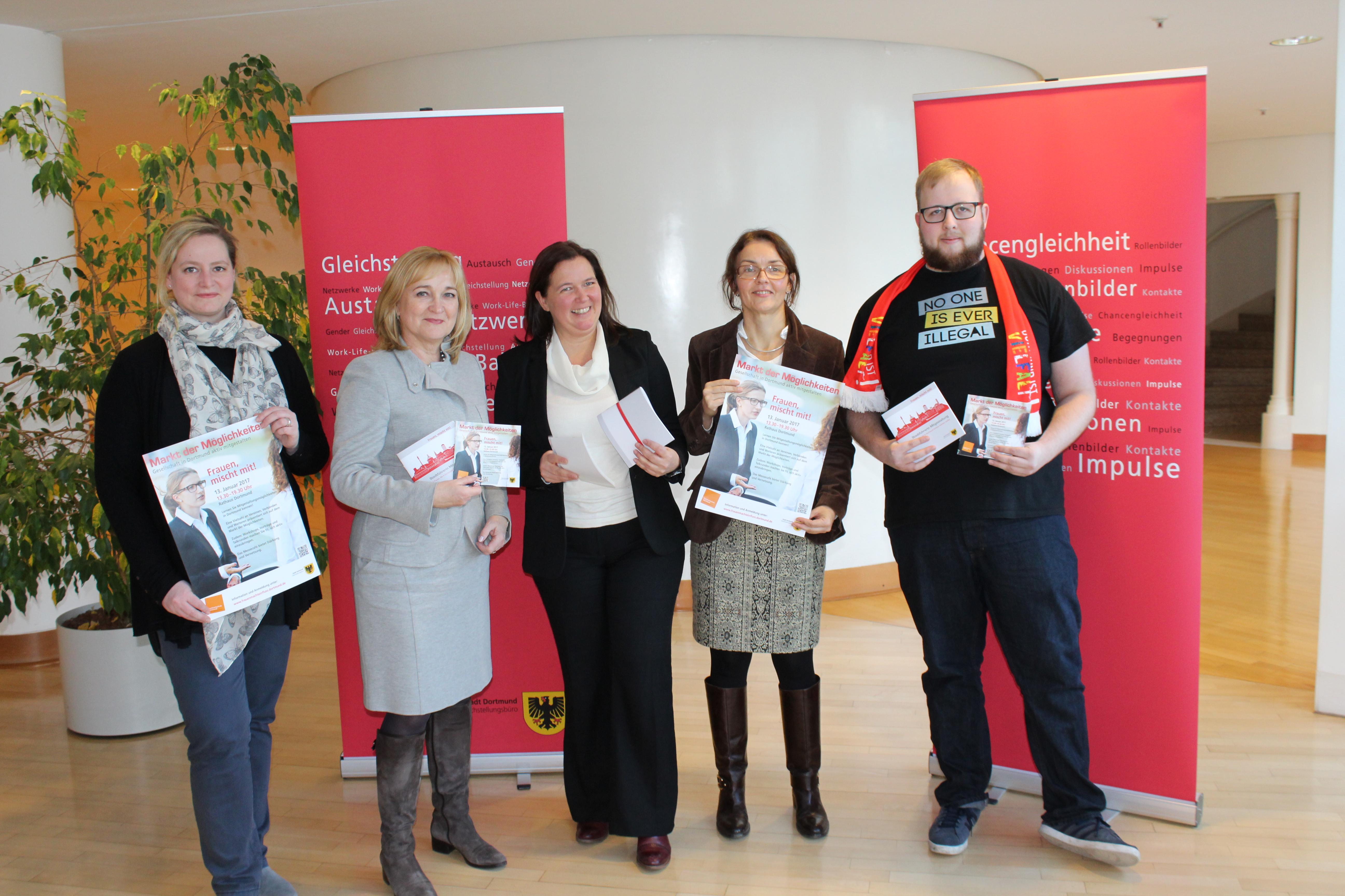"""Die Gleichstellungsstelle und die Fachhochschule Dortmund laden ein zum """"Markt der Möglichkeiten"""" am 13. Januar 2017 im Rathaus Dortmund"""