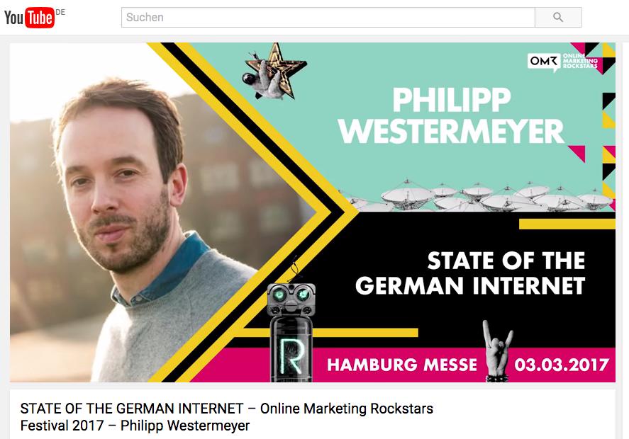 Video Vortrag: Philip Westermeyer über Chancen der deutschen Wirtschaft im Online-Marketing-Zeitalter