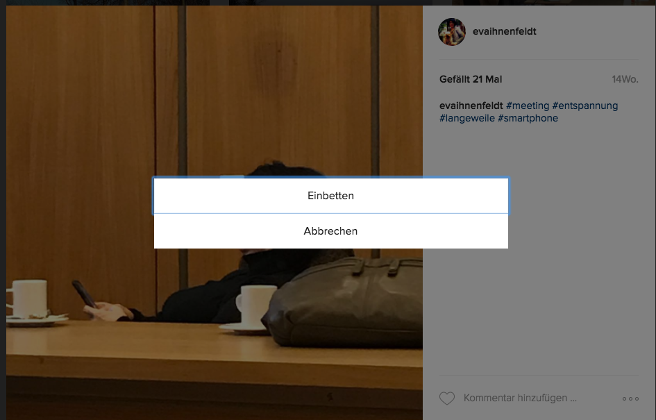 Repost: Anleitung, wie man Instagram-Bilder und Videos im Blog einbetten kann