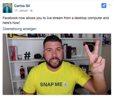 Facebook Live-Videos produzieren am Desktop – wow!